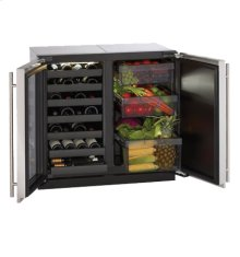 "Stainless Right-hand, lock model Modular 3000 Series / 18"" Wine Captain® /Single Zone Convection Cooling System"