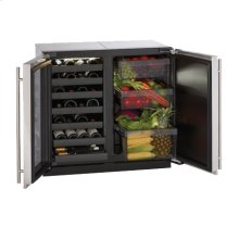 """Stainless Right-hand, lock model Modular 3000 Series / 18"""" Wine Captain® /Single Zone Convection Cooling System"""