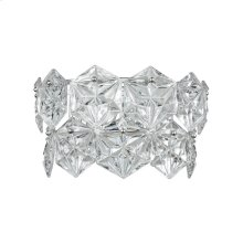 Lavique 2-Light Sconce in Polished Chrome with Clear Crystal
