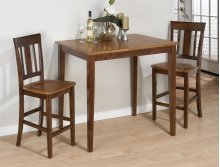 Kura Canyon Table & 2 Slat Back Chairs