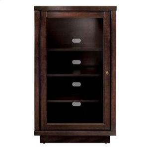 Bell'oNo Tools Assembly Dark Espresso Finish Wood A/V Cabinet