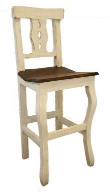 "24"" White/Walnut Alis Barstool"