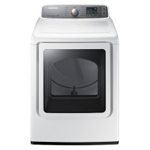 7.4 cu. ft. Capacity Gas Front Load Dryer (White)