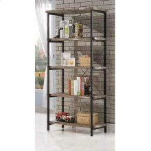 Skelton Industrial Salvaged Cabin Bookcase