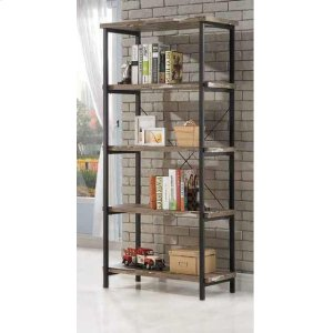 CoasterSkelton Industrial Salvaged Cabin Bookcase