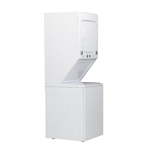 GE Unitized Spacemaker® 2.3 cu. ft. Capacity Washer with Stainless Steel Basket and 4.4 cu. ft. Capacity Electric Dryer