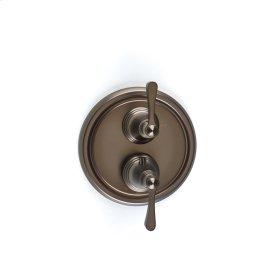 Dual Control Thermostatic with Volume Control Valve Trim Summit (series 11) Bronze