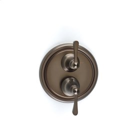 Dual Control Thermostatic with Volume Control Valve Trim Berea (series 11) Bronze