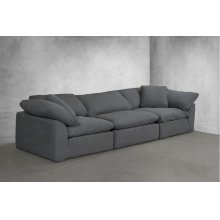 Sunset Trading Cloud Puff Slipcovered 3 Piece Modular Sectional Sofa - 391094