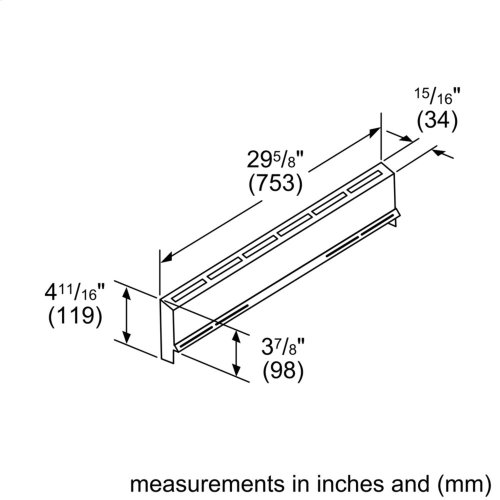 """4"""" Low Back Accessory for DF Slide-in Ranges"""