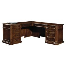 Old World Walnut Executive L-Desk