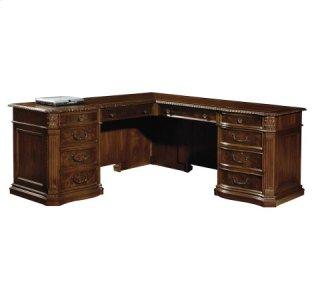 Old World Walnut Executive L-Desk
