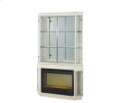 Pearl Caviar Fireplace w/Curio Top & Electric Insert (3 pc) Product Image