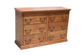 O-T311 Traditional Oak 6-Drawer Youth Bedroom Dresser