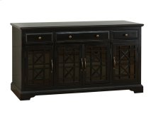 "Craftsman Antique Black 60"" TV Console"