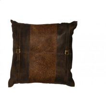 Pillow 60x60 cm COUNTRY leather-cowskin brown
