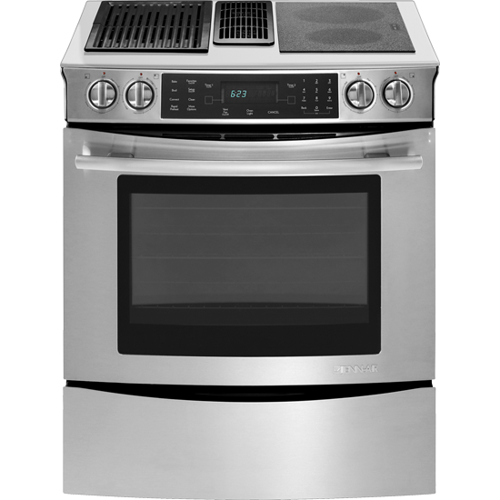 Jes9860cas Jenn Air Slide In Modular Electric Downdraft Range With Convection 30 Euro Style Stainless Good Deals Appliances