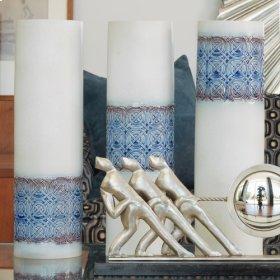 Woven Cuff Vase-Sapphire-Mid