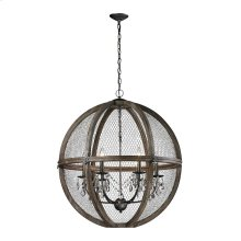Renaissance Invention Wood And Wire Chandelier - Large