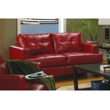 Samuel Transitional Red Loveseat