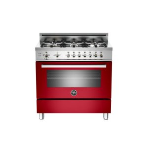 36 6-Burner, Gas Oven Red - RED