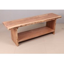 Global Archive Cooper Live Edge Storage Bench