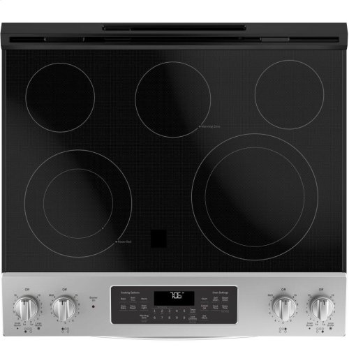 "GE® 30"" Slide-In Electric Convection Range"