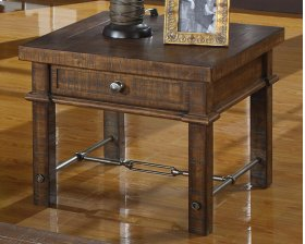Emerald Home Castlegate End Table Pine T9421dc
