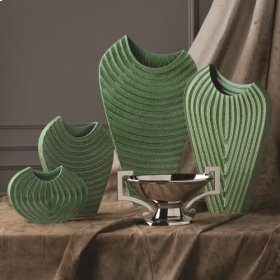 Ripple Vase-Verdi-Lg