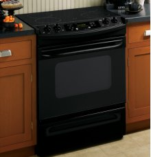 """GE® 30"""" Slide-In Electric Range with Self-Cleaning Oven"""