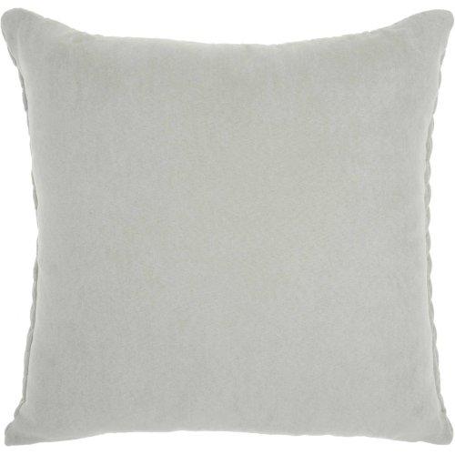 "Life Styles Et299 Light Grey 18"" X 18"" Throw Pillow"