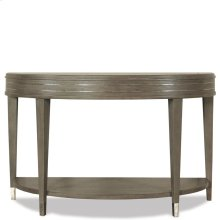 Dara Two - Demilune Sofa Table - Gray Wash Finish