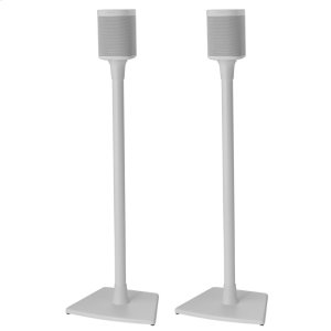 White Wireless Speaker Stands designed for Sonos ONE, PLAY:1 and PLAY:3 - WHITE