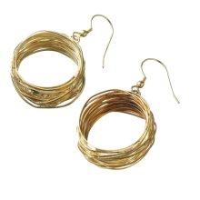 Gold Nest Earrings.