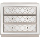 Amelia 3 Drawer Chest - Champagne / Nickel / Mirror Product Image