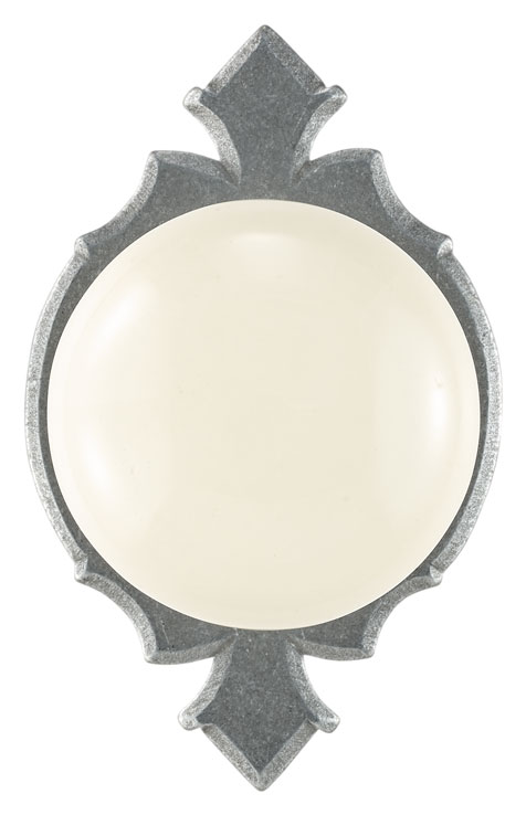 Knob on rosette set - Complete half dummy set