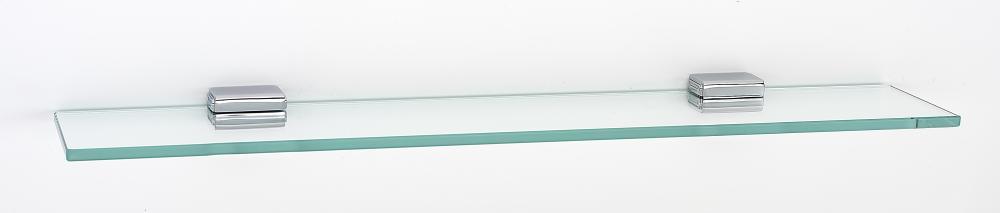 Cube Glass Shelf A6550-24 - Polished Chrome