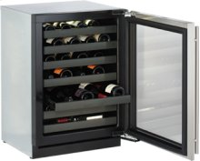 "Stainless Right-hand Modular 3000 Series / 24"" Wine Captain® / Digitally controlled single-zone convection cooling system"