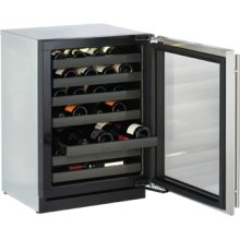 """Stainless Left-hand Modular 3000 Series / 24"""" Wine Captain® / Digitally controlled single-zone convection cooling system"""