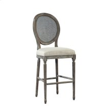 Spenzia Bar Stool, Rattan Back