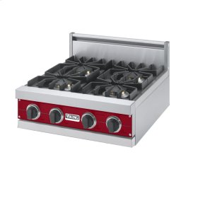 "Apple Red 24"" Sealed Burner Rangetop - VGRT (24"" Wide, four burner)"