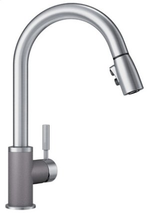 Blanco Sonoma With Pull-down Spray 1.5 Gpm Silgranit - Metallic Gray