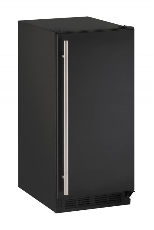 """1000 Series 15"""" Crescent Ice Maker With Black Solid Finish and Field Reversible Door Swing"""
