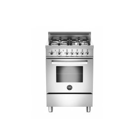 24 4-Burner, Gas Oven LP Stainless