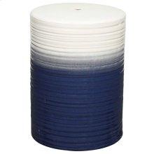 Swirl Garden Stool, Blue/Cream