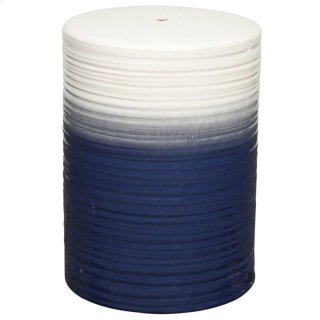 Swirl Garden Stool, Blue/Cream