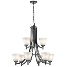 Serina Collection Serina 9 Light Chandelier in Black