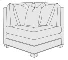Grandview Corner Chair in Mocha (751) Product Image