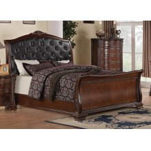 Maddison Brown Cherry Queen Bed