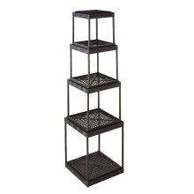 4 pc. set. Distressed Black Stacking Shelf. (4 pc. set)